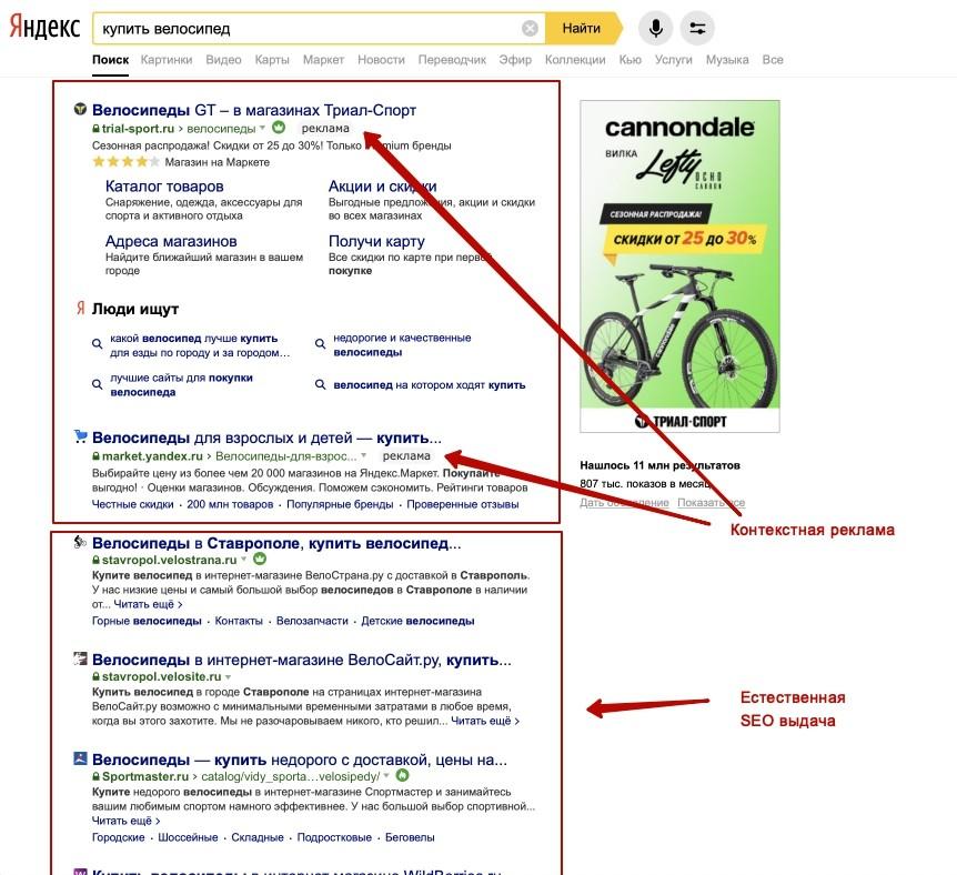 Отличия между SEO и контекстной рекламой. В чем разница и различия