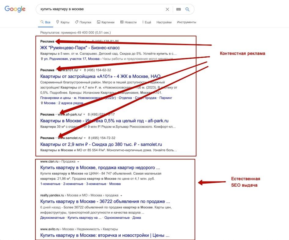 Отличия между SEO и контекстной рекламой. В чем разница и различия фото 2